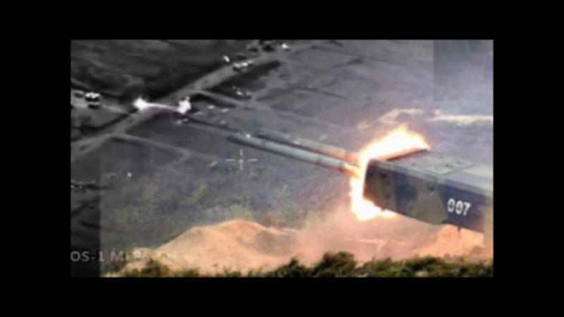 Russian Buratino TOS-1 MLRS Firing Rocket's Against.....(Latakia Mountains Region)!!