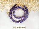Вязаный жгут из бисера Knitted plait of beads