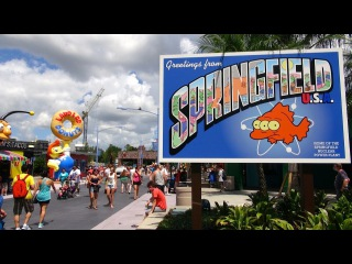 The Simpsons New Springfield Area Complete Tour - Universal Studios Florida - Orlando, Florida HD