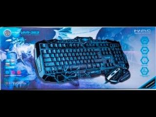 Marvo var-363 клавиатура и мышь. Регулировка яркости и измение цвета подсветки.