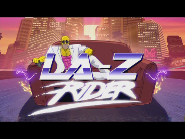 LA Z Rider Couch Gag From Guest Animator Steve Cutts Season 27 THE SIMPSONS