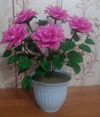 Цветы и деревья из бисера в контакте