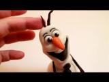 (ТОРТ-РЕЦЕПТ-VK) Снеговик Олаф из мастики мастер класс м/ф Холодное сердце, как слепить Олафа, лепка фигурок из мастики