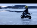 Скутер Ямаха Slider Стант и дрифт на льду и снегу