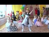 Зажигательный танец на выпускном утреннике в детском саду