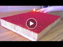 6000 Match Chain Reaction Amazing Fire Domino Match Chain Reaction 5 Circle Amazing Fire Domino