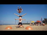 Yoga Ball Tricks and Flips at the Beach Daredevils