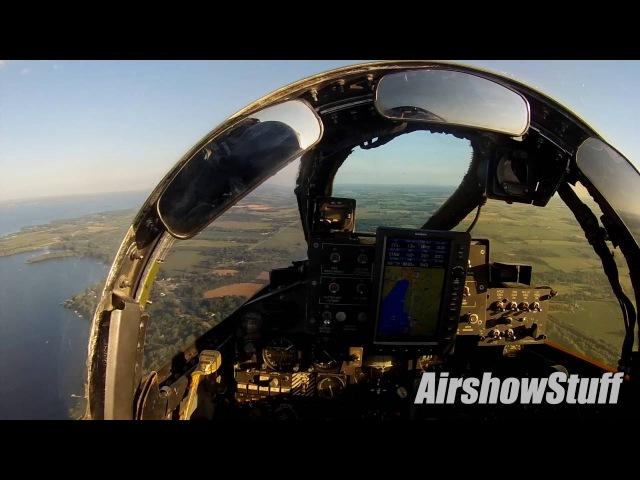 F-4 Phantom Helmet Cam - Flybys and Landing at EAA AirVenture Oshkosh 2016