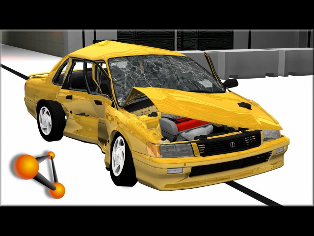 BeamNG.Drive Damage Test At 30, 40, 60, 90, 120Mph Ibishu Pessima 2.0 ZX AWS (M)