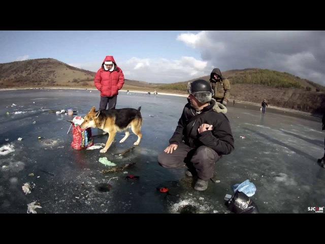 Зимова рибалка, с.Калачківці, 06.02.2016, ИЖ на кризі