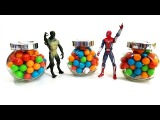 Bubble Gum Balls Surprise Stop Motion Animation Spider-Man Lizard Teletubbies Lalaloopsy Hello Kitty