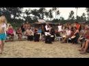 Drums - Jambey - Sunset, Arambol, Goa. Шоу барабанов. Арамболь. Февраль 2015