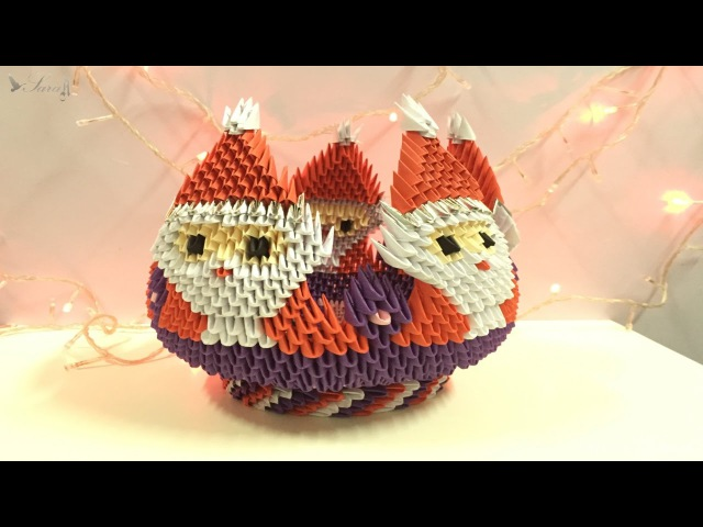 How to make 3D origami Bowl Santa Claus part 1