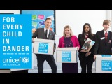 Tom Hiddleston talks child protection with young campaigners and Justine Greening