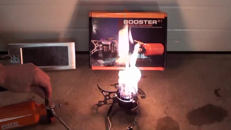 BRS 8 booster stove, multi fuel- butane, petrol, paraffin mix.