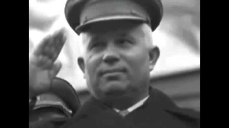 Киев парад 1 мая 1941г Командует генерал полковник Михаил Кирпонос