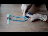 2 fingers surgical knot хирургический узел 2-мя пальцами, 1080р!