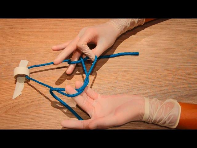 Double one handed surgical knot сложный хирургический узел (по Булынину), 1080р!