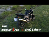 View motorcycle Kawasaki Z750 (2004) and stock exhaust sound