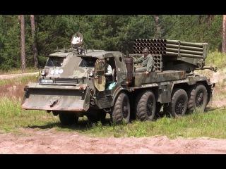 Army offroad truck 8x8 Tatra RM-70 Grad multiple rocket launcher