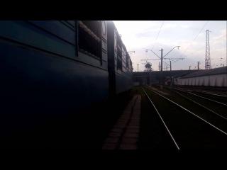 Выезд электровоза ВЛ82м-045 из ТЧ-8 Днепропетровск