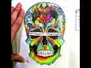 """Dayana on Instagram: """"My old one video with speed-up process of drawing a rainbow skull😄😄 Hope you'll enjoy! Watch more on my Youtube channel😉 inspired by…"""""""