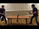 J2 found a ping pong table