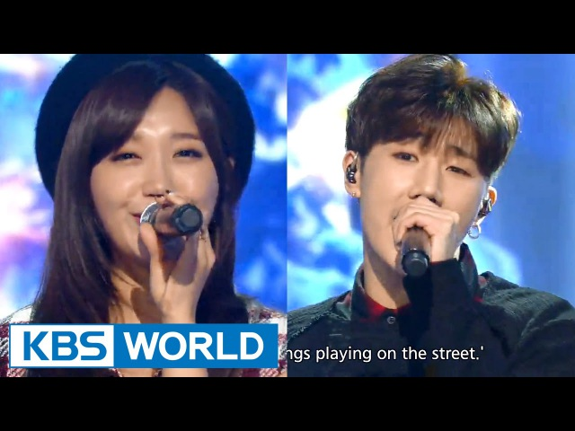 Kim SeongKyu (김성규) Jeong EunJi (정은지) - Happy Together [Music Bank Christmas Special 2015.12.25]