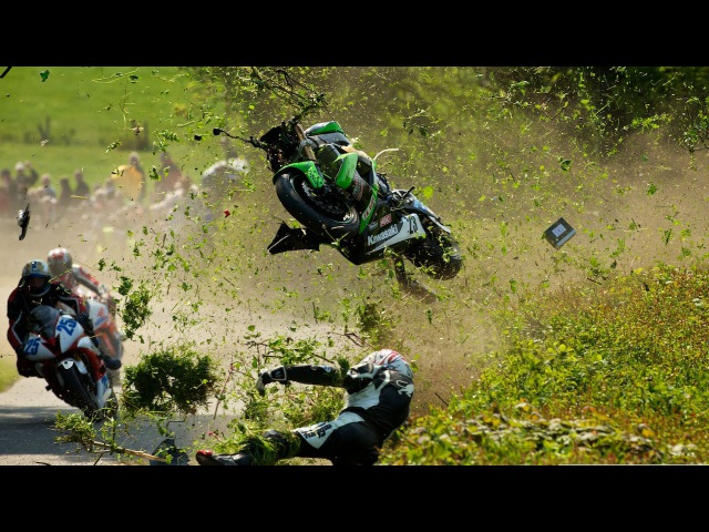 10 самых страшных аварий на мотоциклах