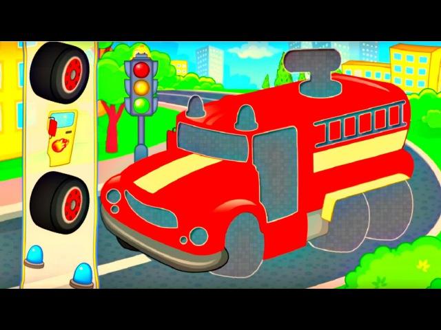 3D Assemblage Voiture de sport Camion de pompier Dessin animé éducatif pour enfants
