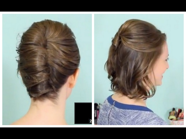 French Twist Half Updo for Short hair!