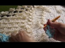 Шаль бабочки 1часть learn to crochet shawl crochet Шаль 1