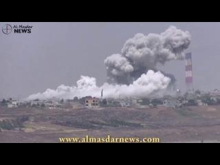 Сирия.ВКС РФ наносит бомбовые удары по террористам в НП Аль-Захра,Хомс.Май 2016.