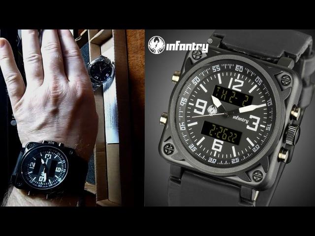 Watches INFANTRY Aviator Montre часы кварцевые, мужские, стиль милитари .