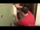 Укладка плитки в ванной - 10часть/Обходим дверной откос