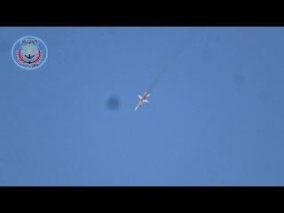 شاهد سقوط الطائرة الحربية الروسية واشتعا&#160