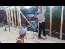 Каркасная пристройка к деревянному дому День 8