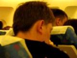 Видео из салона самолета