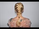 Как заплести вывернутую французскую косу самой себе