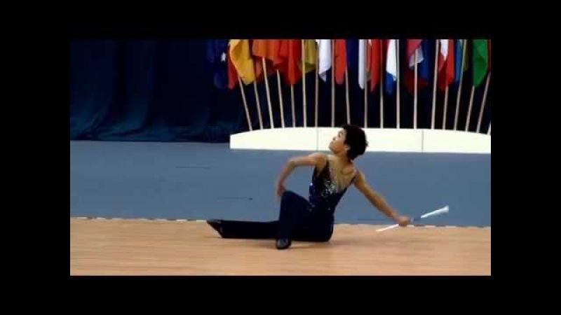 Keisuke Komada (Japan) - 1st place World Championship Twirling 2014
