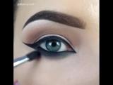 Быстрый макияж . Ровные стрелки.Красивые глаза.Вечерний макияж