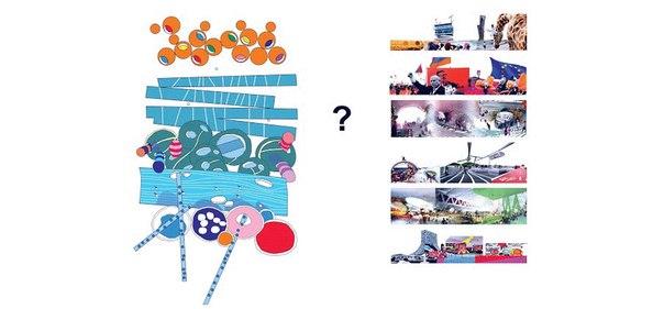Играющие ландшафты. Принципы функционирования  и сборки города (авторская иллюстрация)