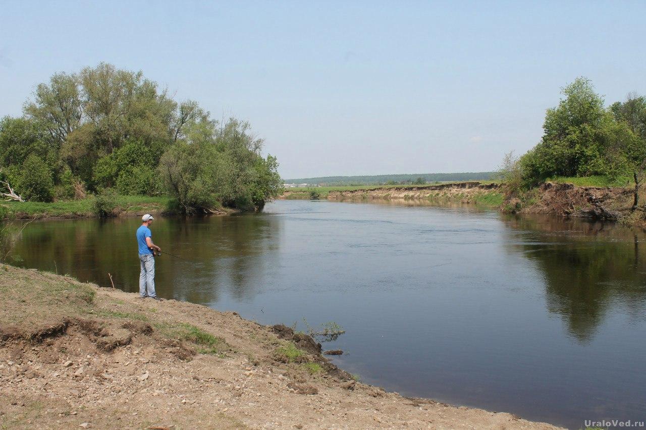 Место слияния рек Исеть и Синара