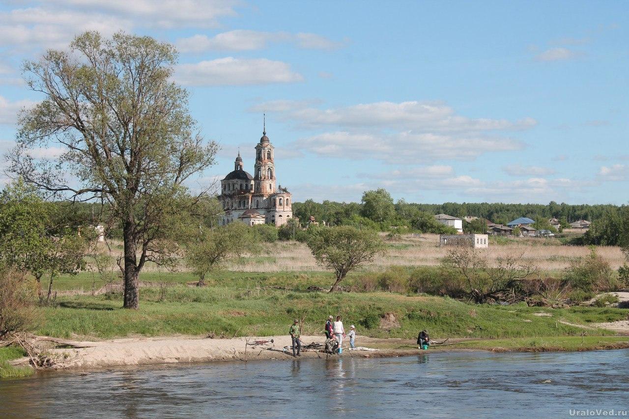 Река Теча в Першинском