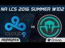 C9 vs IMT highlights Game 2 NA LCS 2016 Summer W1D2 Cloud 9 vs Immortals
