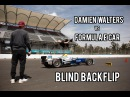 Damien Walters vs Formula E car - Blind Backflip