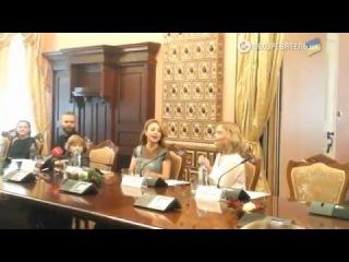 Тина Кароль - Різдвяна Історія (пресс конференция) - 1