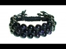 Tutorial Triple shamballa bracelet / Тройной браслет шамбала
