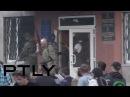 11 мая 2014. Красноармейск. Graphic video: Ukraine's National Guard opens fire on unarmed civilians in Krasnoarmeysk