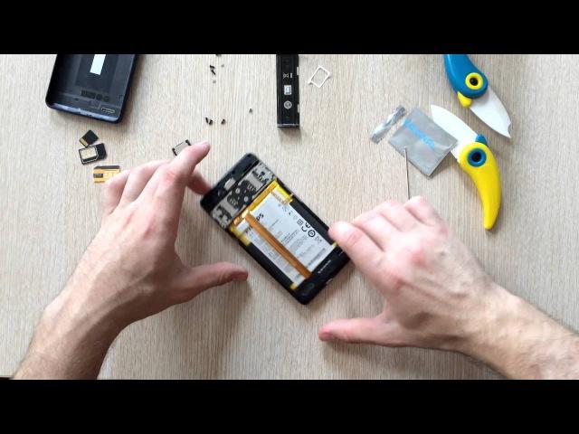 8е видео как я чинил смартфон Philips Xenium W6610 замена динамика